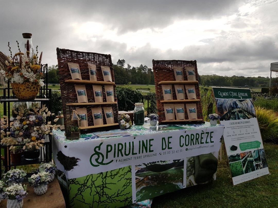 Spiruline Marché de Corrèze